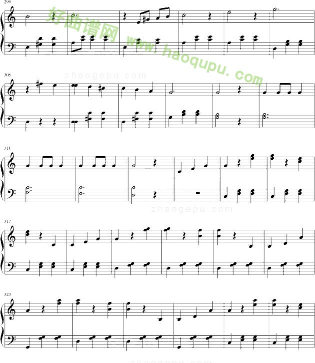 《蓝色多瑙河》 - 钢琴谱