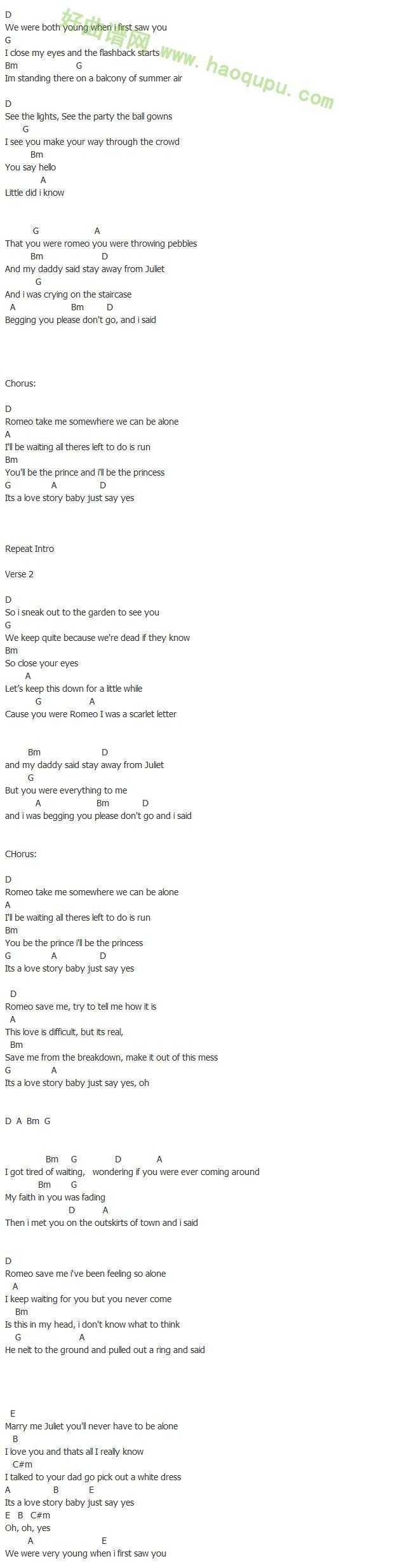 《love story》 - 吉他谱
