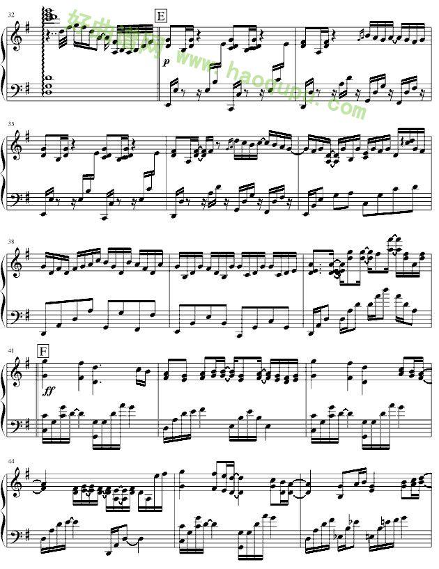 镜夜 钢琴谱