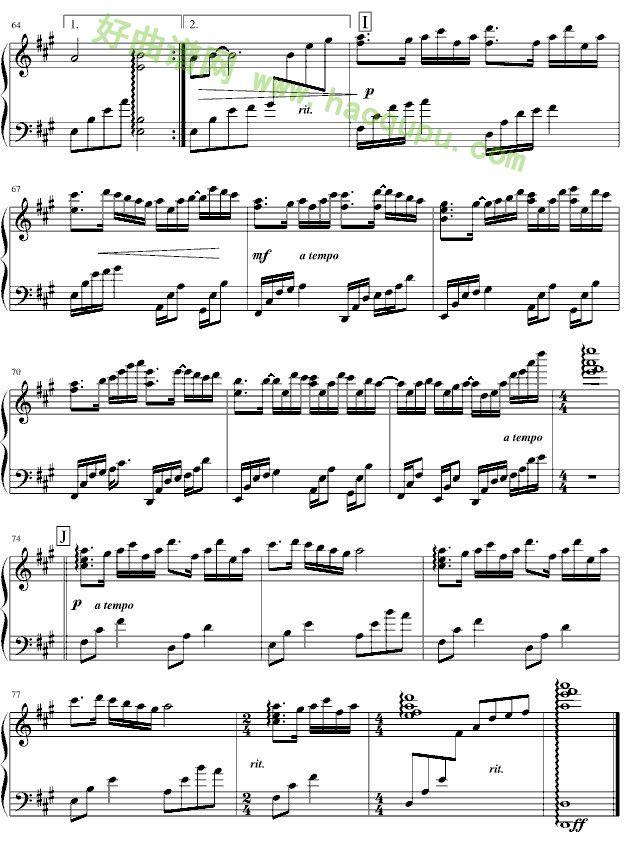 钢琴谱_钢琴曲谱