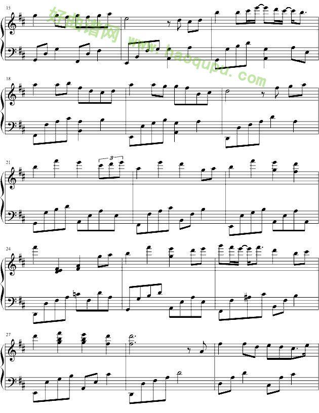 《突然好想你》 - 钢琴谱