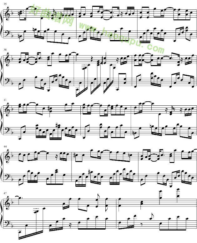 那些年 钢琴谱
