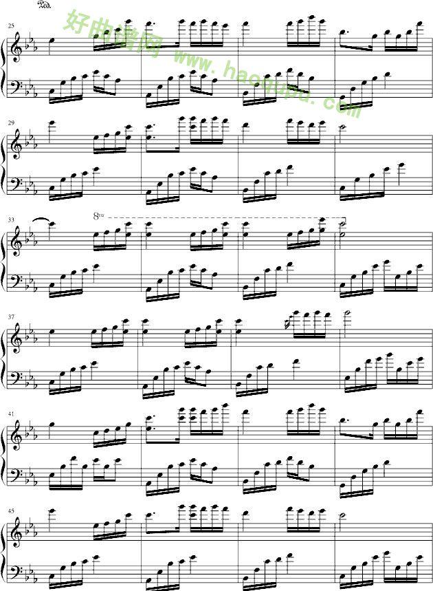 《夜的钢琴曲五》钢琴谱第2张
