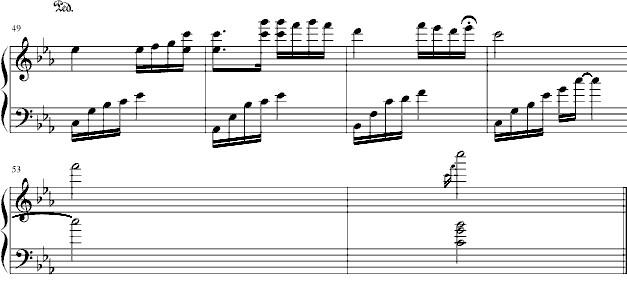 《夜的钢琴曲五》钢琴谱第3张