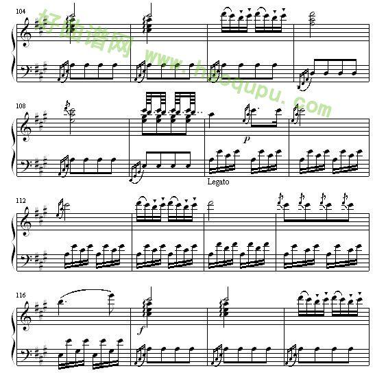 土耳其进行曲 钢琴谱