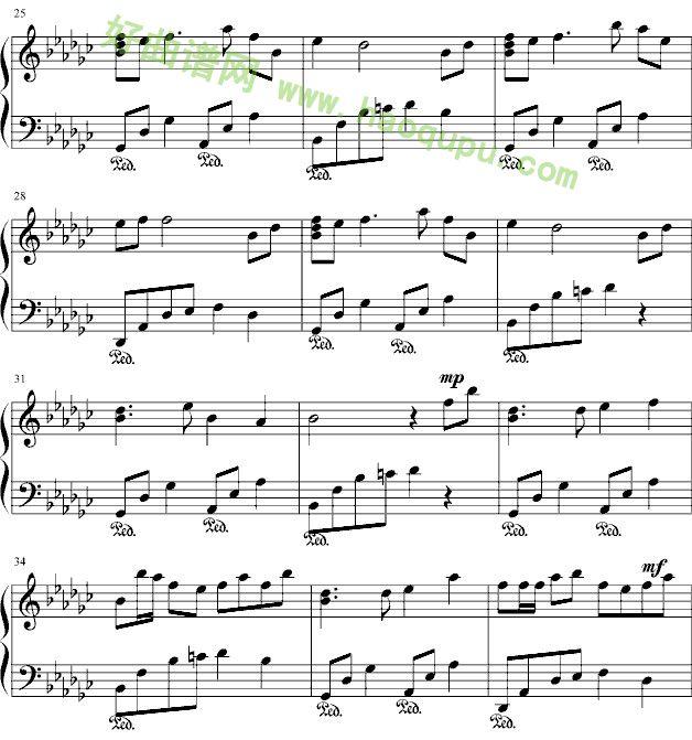 《风居住的街道》 - 钢琴谱图片