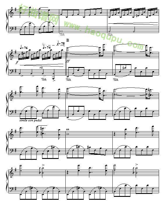 拯救钢琴曲谱-出埃及记 钢琴谱