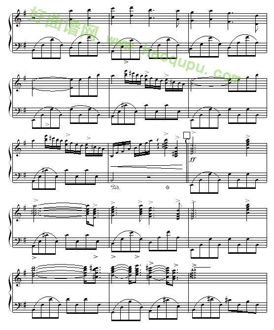 婚礼进行曲 钢琴曲谱