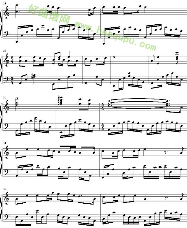 星星的愿望 钢琴谱