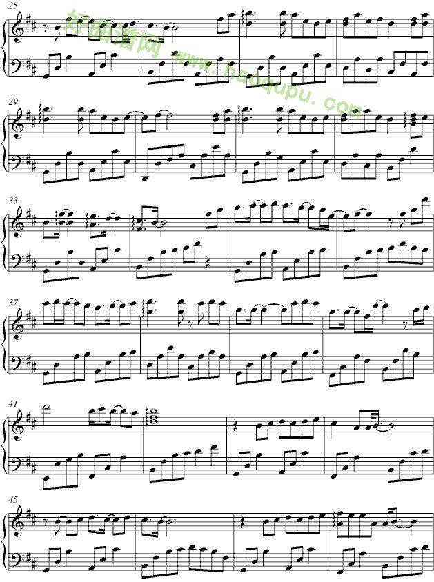 三寸天堂 钢琴谱