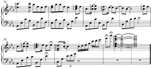 《三寸天堂》 - 钢琴谱