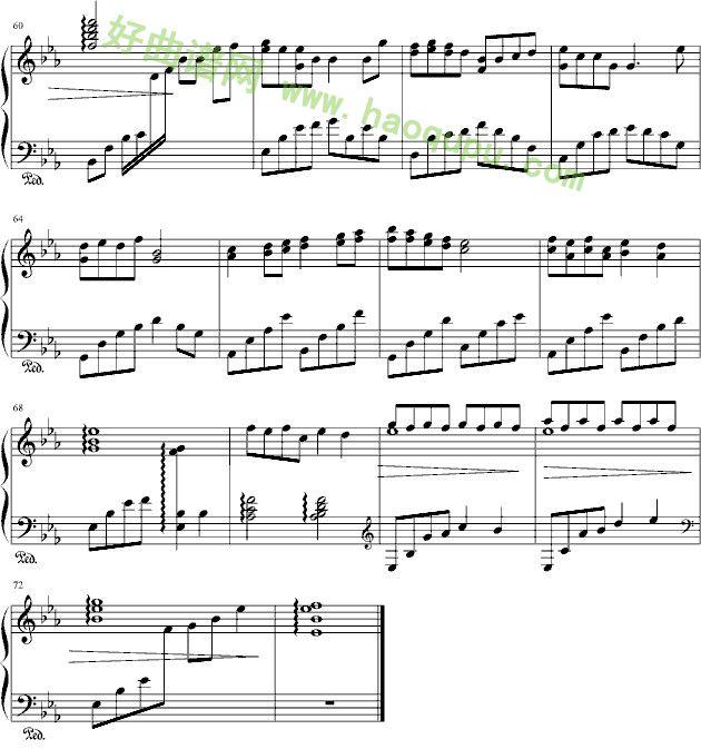 《小酒窝》 - 钢琴谱_钢琴曲谱