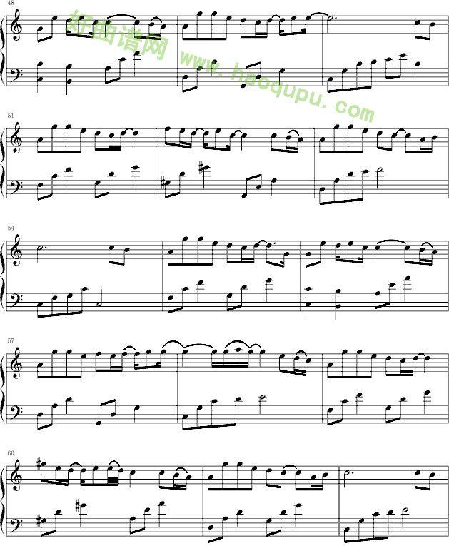 猜不透 钢琴谱