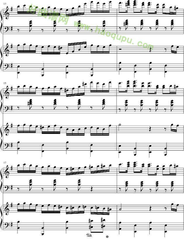 《湘伦小雨四手联弹》钢琴谱第3张