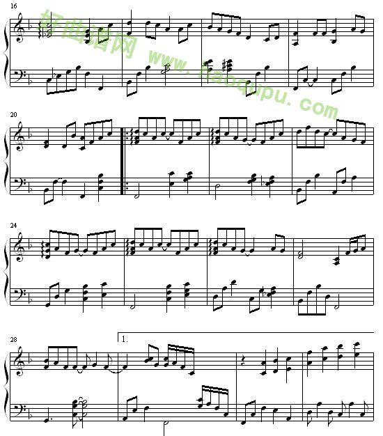 简单流行歌曲钢琴谱
