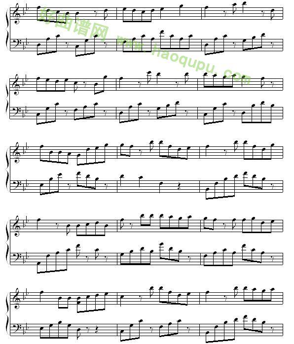 风筝与风 钢琴谱