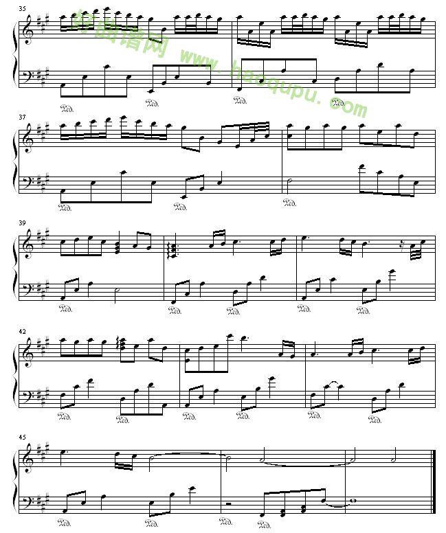 简单钢琴乐曲谱