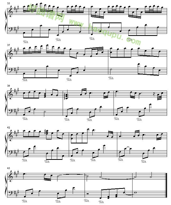 moonriver 曲谱