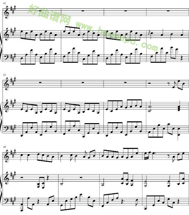 心愿歌词谱子-爱与希望 钢琴谱