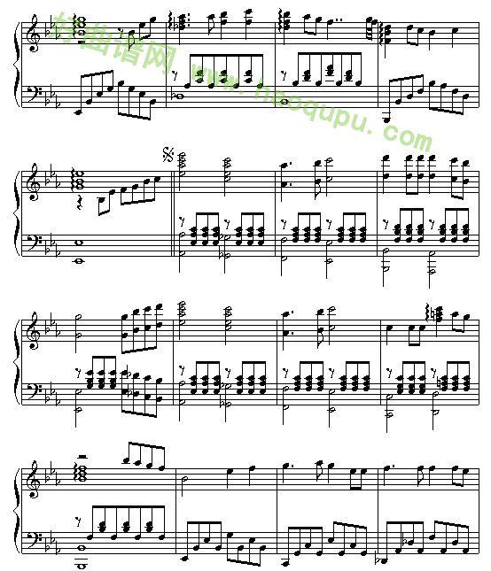 《同一首歌》 - 钢琴谱