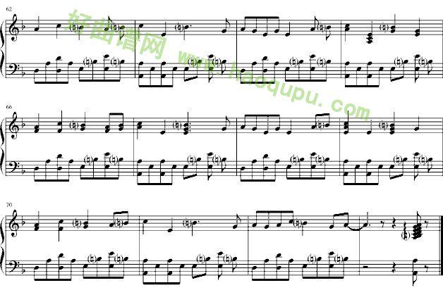 中国话 钢琴谱