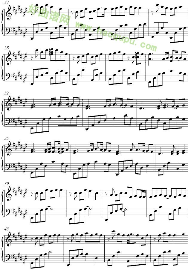 《等你的季节》 - 钢琴谱