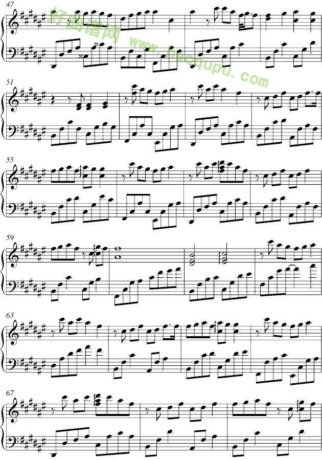 等待钢琴曲曲谱-等你的季节 钢琴谱