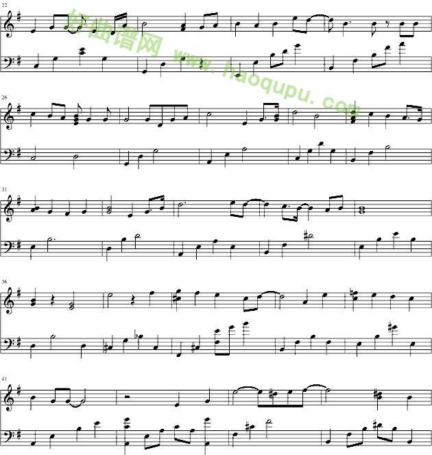 《对不起我爱你》 - 钢琴谱