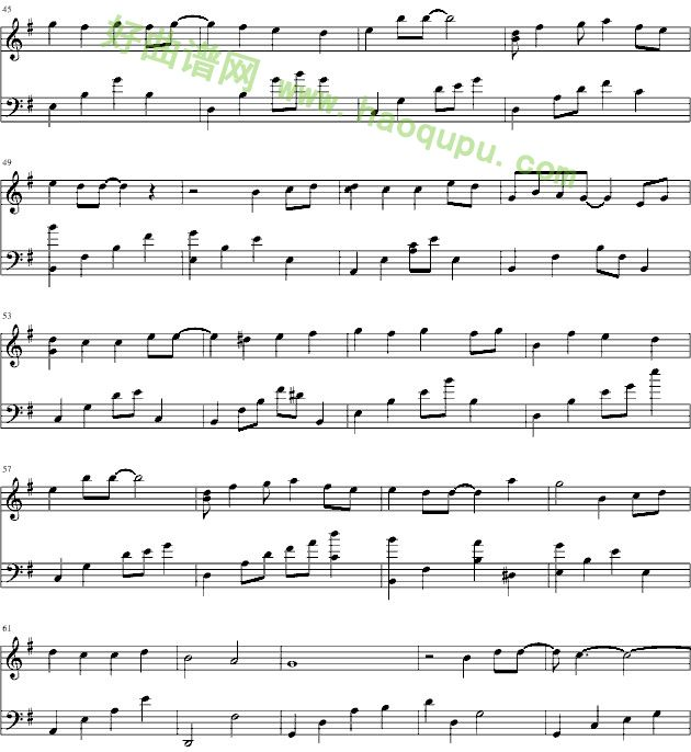 对不起我爱你》钢琴弹奏视频   下载说明:在曲谱上鼠标点击右