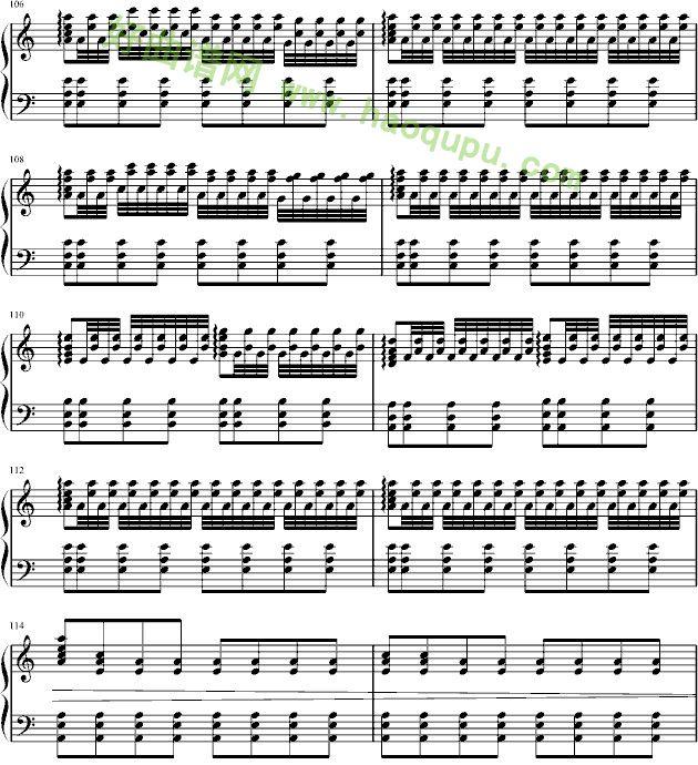 男儿当自强 钢琴谱