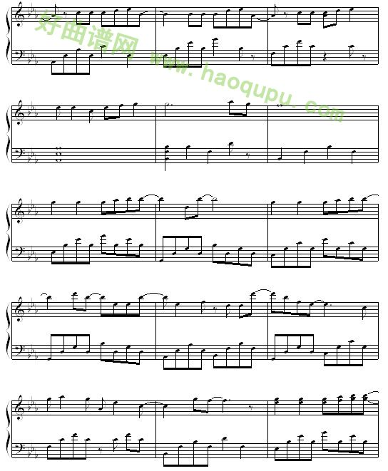 暧昧 钢琴谱