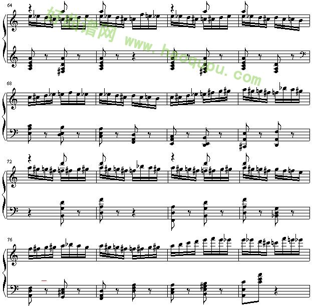 《野蜂飞舞》 - 钢琴谱