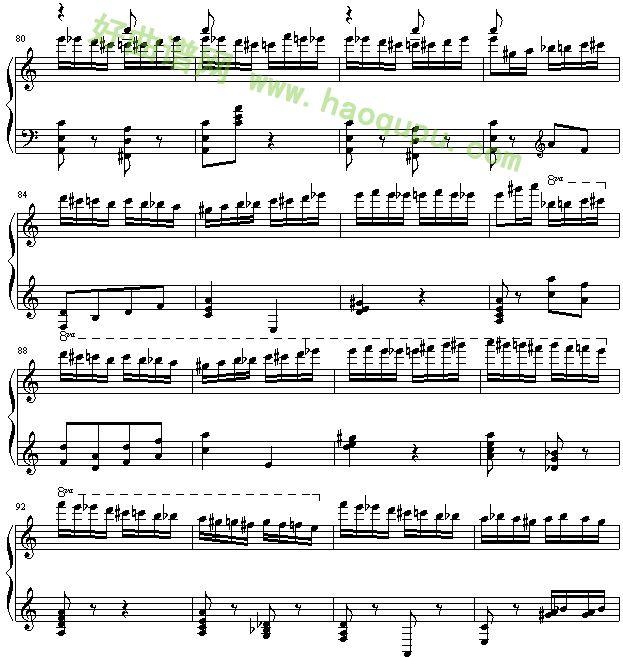 野蜂飞舞 钢琴谱第6张