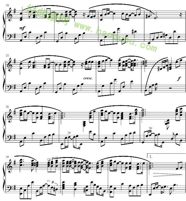 《离歌》钢琴谱第2张