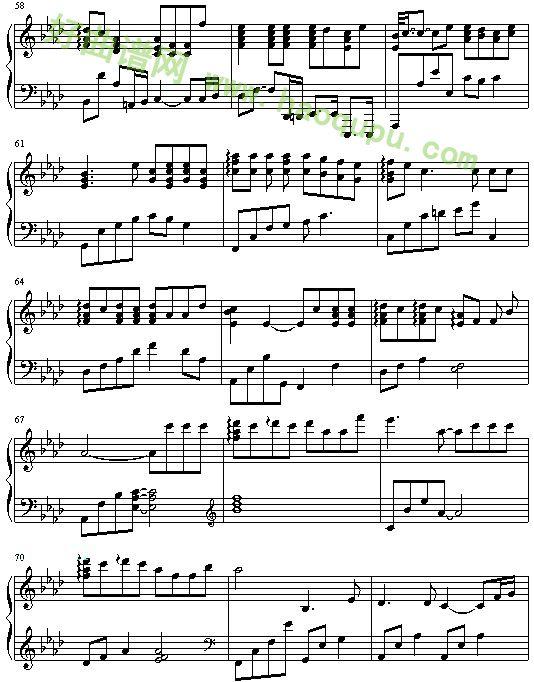 存在 钢琴谱