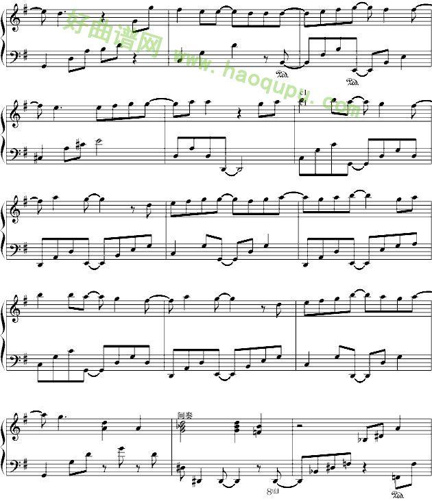 我的未来式 爱情公寓片头曲 钢琴谱 五线谱 好曲谱网
