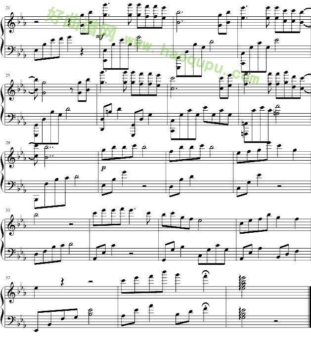 女人花 钢琴谱