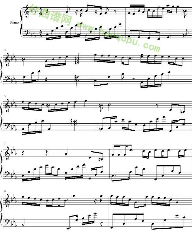 《最爱》钢琴谱第1张