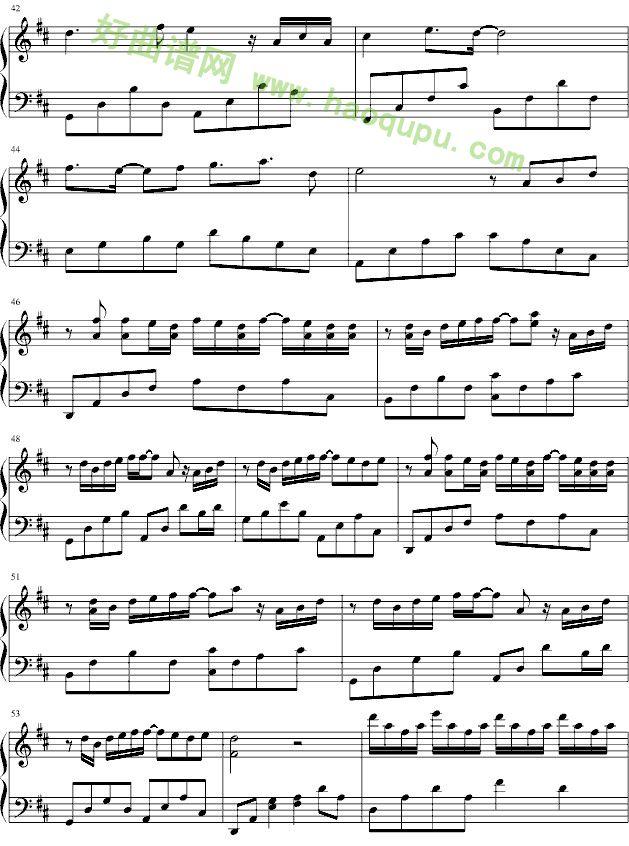 郊游钢琴曲曲谱