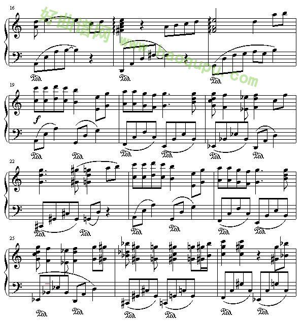 千与千寻 主题曲 钢琴谱 五线谱 好曲谱网