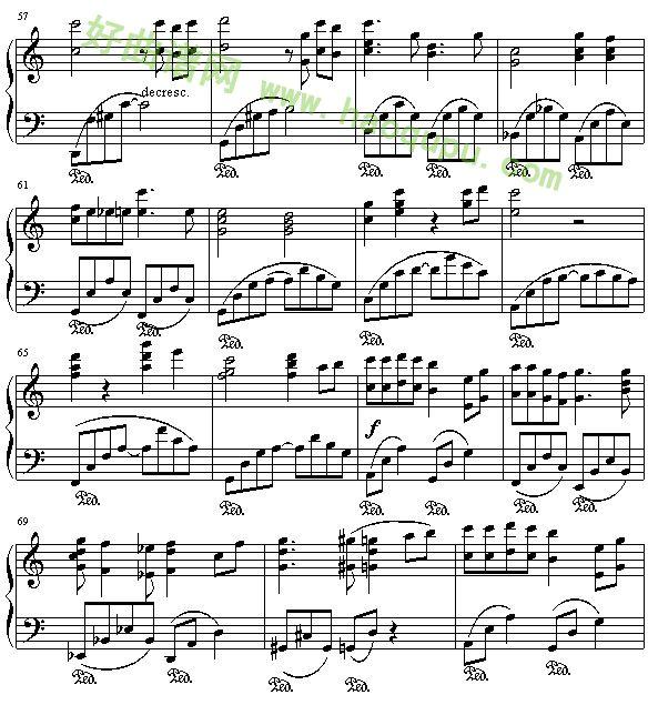 千与千寻 主题曲 钢琴谱 钢琴曲谱 钢琴歌谱 好曲谱网