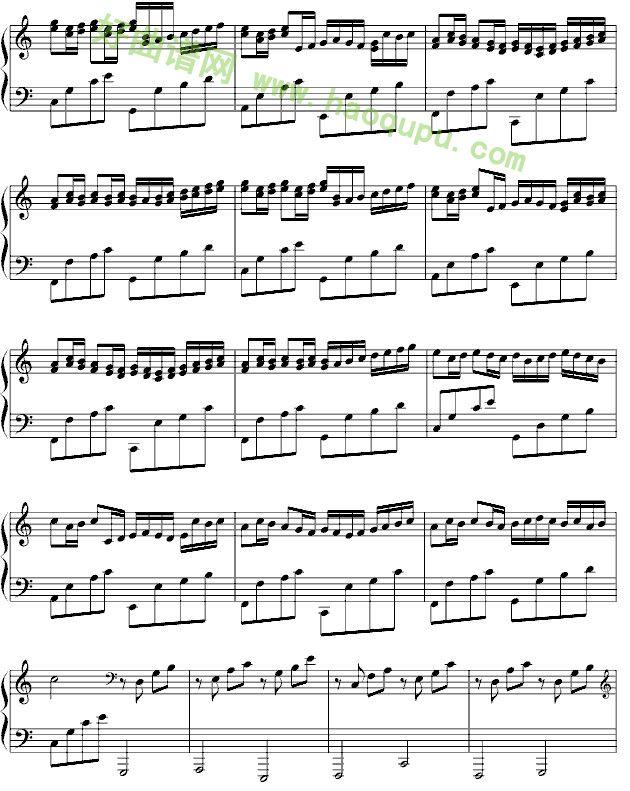 《卡农》钢琴独奏完整版钢琴谱第3张