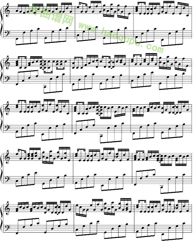 《卡农》钢琴独奏完整版钢琴谱第5张