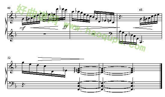 僵尸新娘 钢琴谱第5张