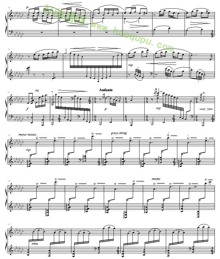 春江花月夜 钢琴谱