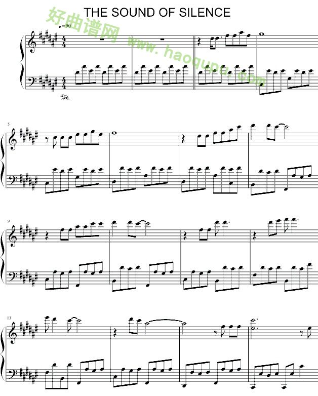 安静 still 谱子-寂静之声 钢琴谱