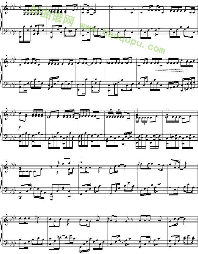 肖邦夜曲钢琴谱