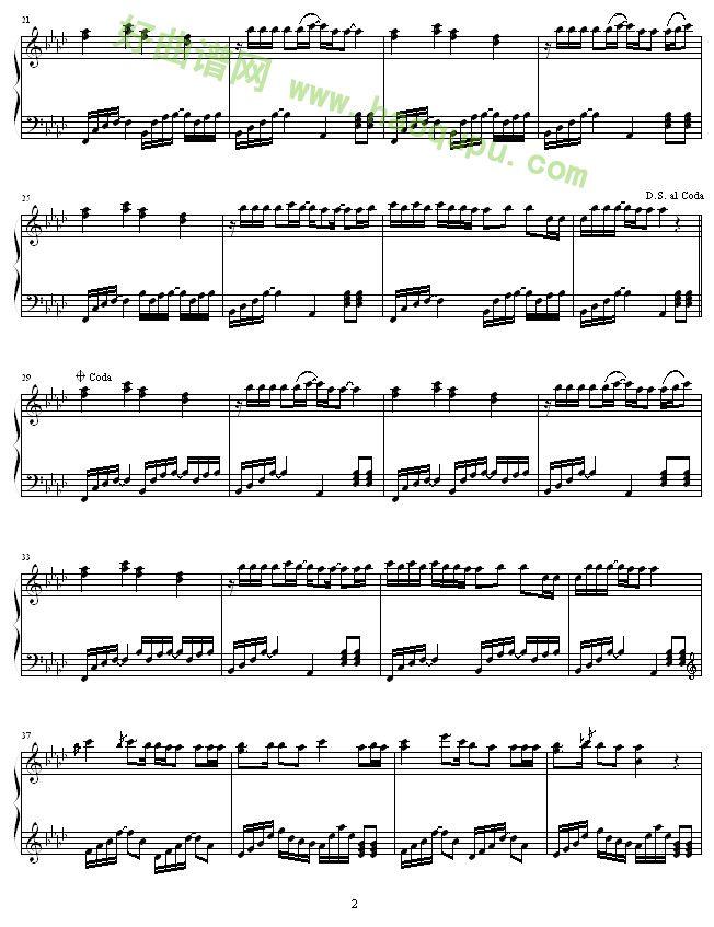 不得不爱 钢琴谱