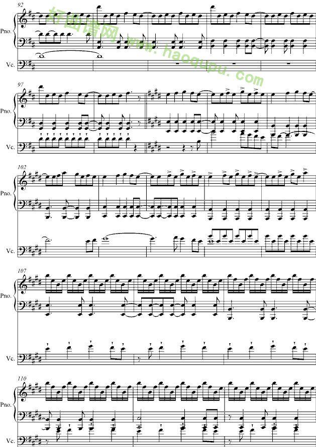love story 钢琴谱
