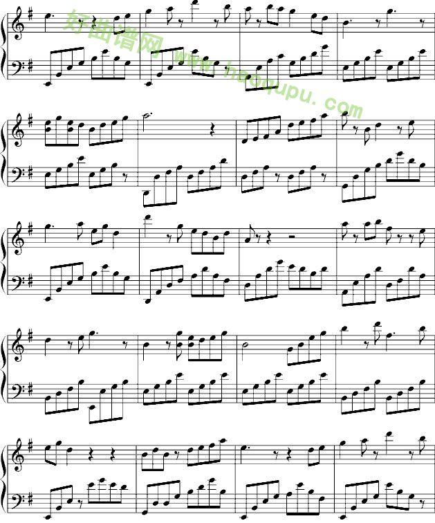 梁祝 钢琴谱